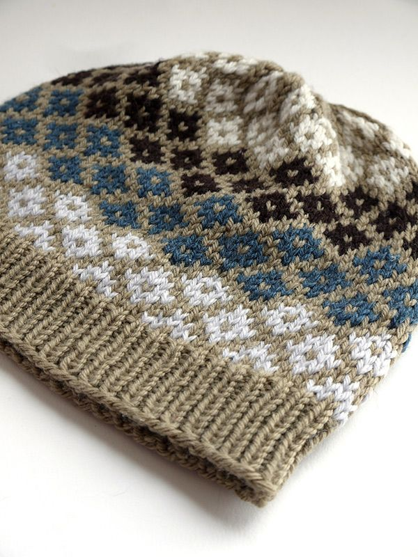 FAIR-ISLE HAT | In this intermediate fair-isle class you'll advance your color knitting skills to the next level while making this fashionable, colorful beanie. Made in Rowan Pure Wool Worsted, you have LOTS of colors to choose from and your hat will have the infamous warmth and elasticity of wool fiber.
