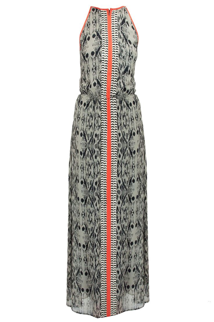 Abstract printed road maxi dress available only at Pernia's Pop-Up Shop.