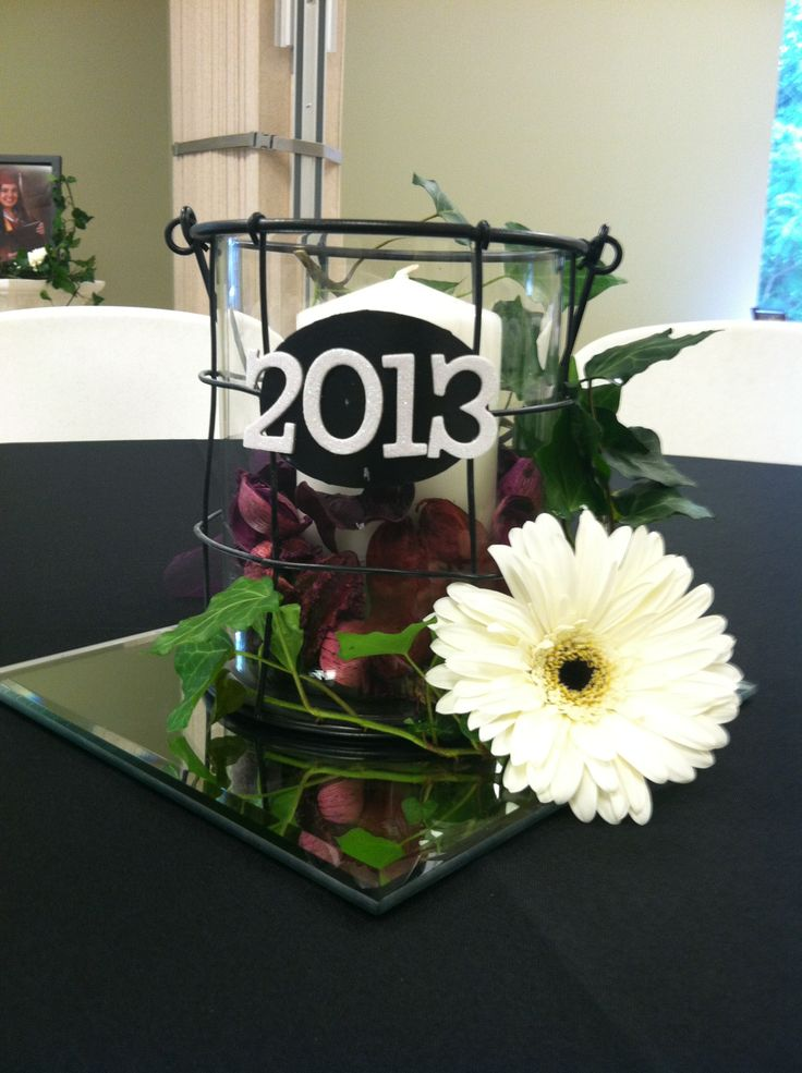 Graduation table centerpiece decorations