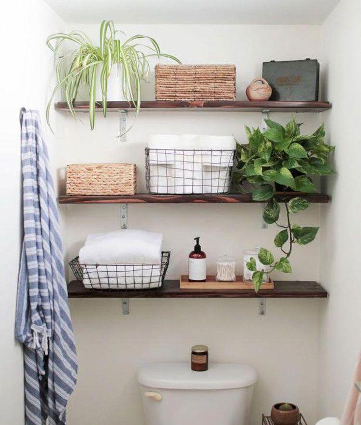 Clever Bathroom Shelves For Small Bathroom – Best Small Bathroom Storage Ideas: …   – Bathroom makeover