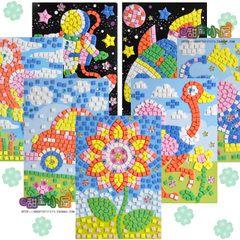 EVA Алмазная Мозаика наклейки бумаги Детский сад Детский День подарков игрушки DIY ручной работы трехмерной головоломки