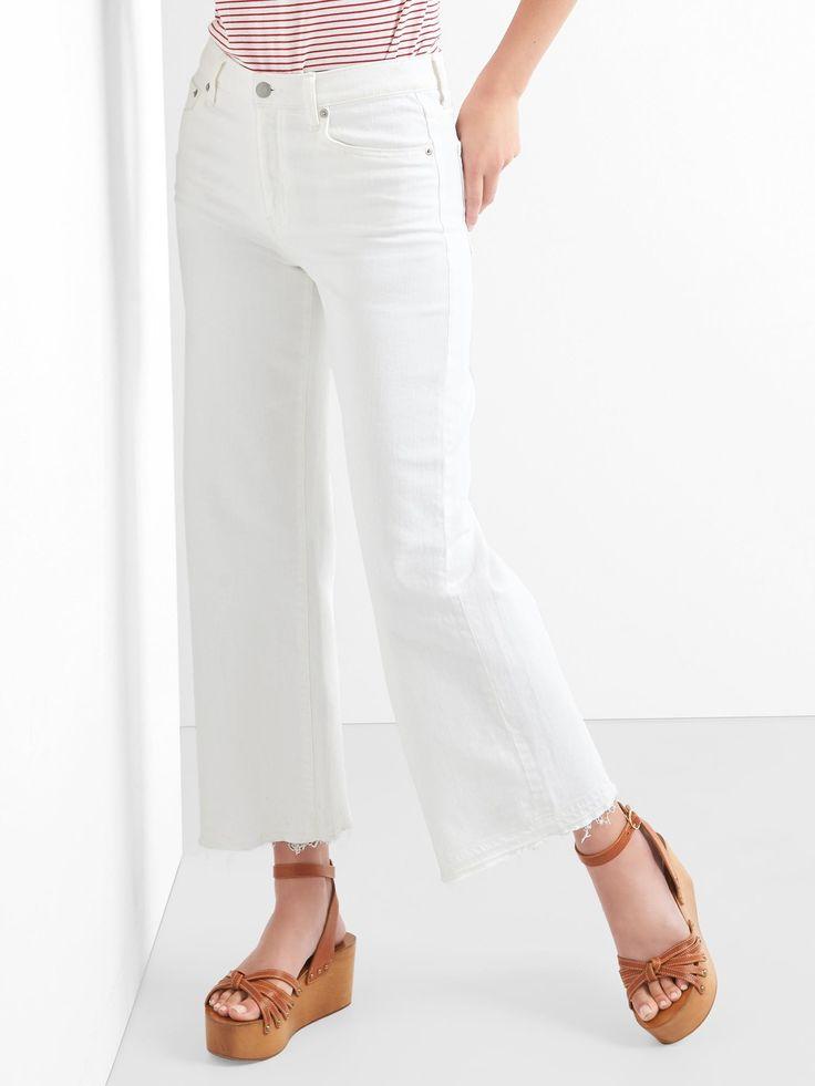Gap - Yüksek bel geniş paçalı jean pantolon
