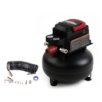 [Lowes]50% off. Briggs & Stratton 0.3-Hp 3-Gallon 100-PSI 120-Volt Pancake Portable Electric Air Compressor http://www.lavahotdeals.com/ca/cheap/lowes50-briggs-stratton-0-3-hp-3-gallon/125319