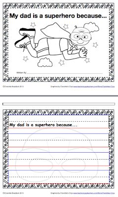 Free Father's Day Writing Printable from Charlotte's Clips http://pinterest.com/kindkids/loving-language-arts-charlotte-s-clips/