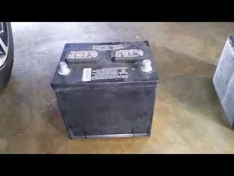 (415) 2016-2018 Nissan Maxima OEM 12V Battery Removed - Changing Dead Car Battery - YouTube