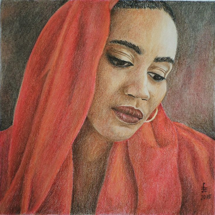 Woman portrait with pastel by Erika Székesvári https://www.facebook.com/ercziart