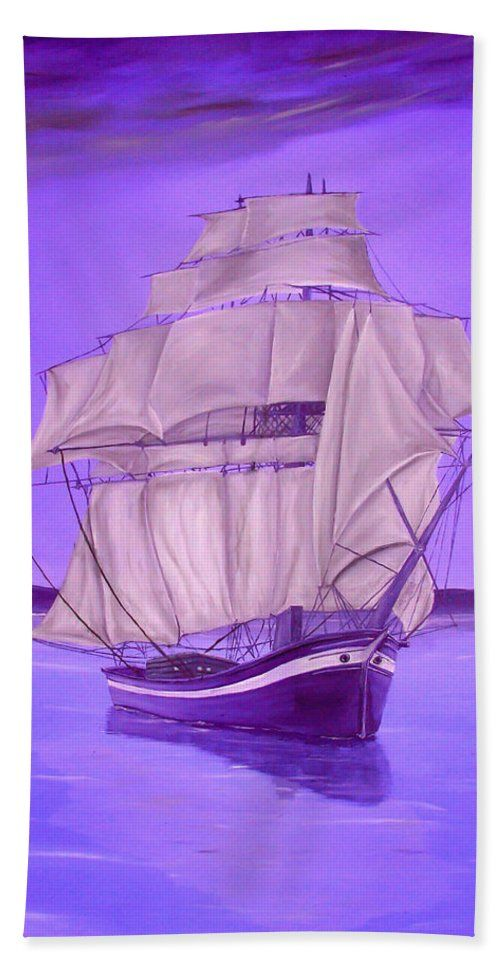 Hand Towel,  home,accessories,bathroom,unique,fancy,cool,trendy,artistic,beautiful,awesome,modern,fashionable,for,sale,decor,unusual,design,items,products,ideas,purple,lavender,nautical,sailboat,marine