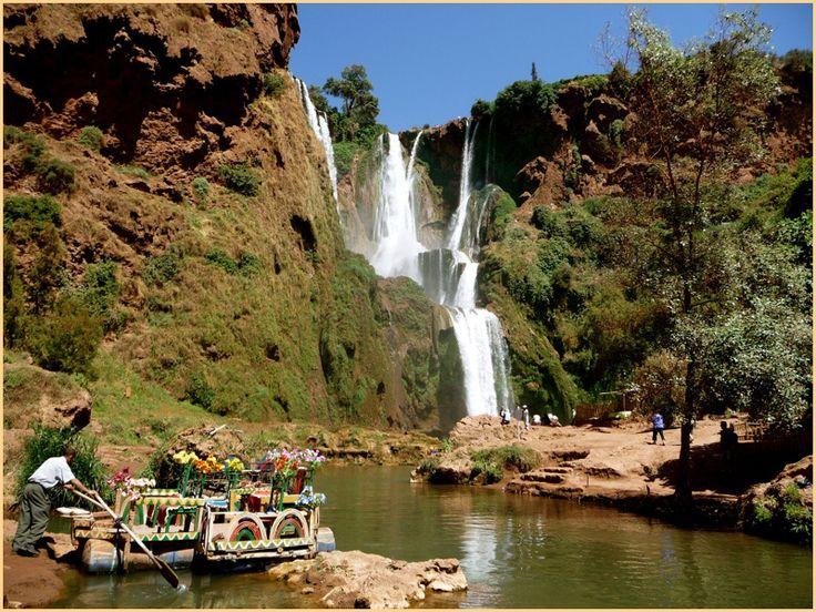 Morocoo Landscape Ouzoud Falls Tadla Azilal Morocco World City