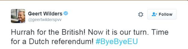 El mundo reacciona al Brexit en Reino Unido con la extrema derecha pidiendo referendos en otros países de la Unión Europea - BBC Mundo