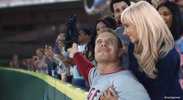 Josh Hamilton and his wife in an Old Spice commercial ...