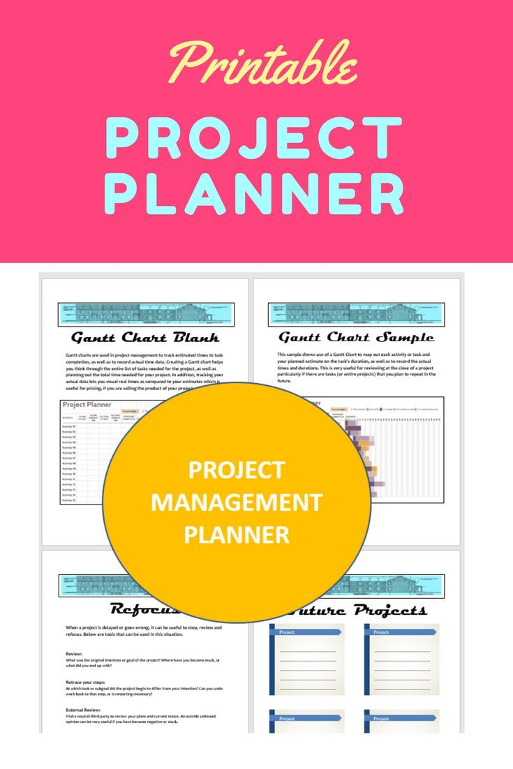 15 Printable project management Planner pages for your functional planner! Help to organize all of your projects and goals in your planner!  #printable #planner #goalplanner #projectplanner #planneraddict #timemanagement #projectmanagement #projectmanagementprintable