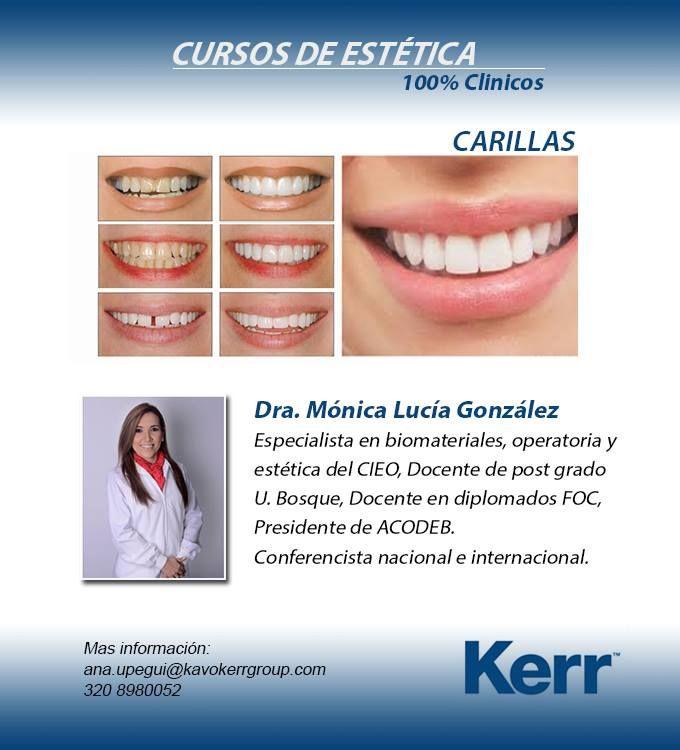 CARILLAS EN PORCELANA 15 Y 22 ABRIL. Curso de Estética recomendado por el Portal Odontologos.com.co® más info: http://www.odontologos.com.co/c.aspx?m=453
