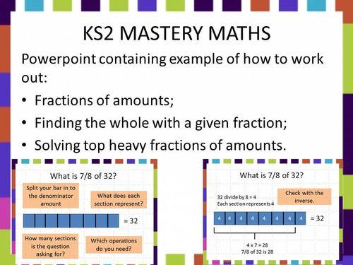 KS2 bar modelling fractions