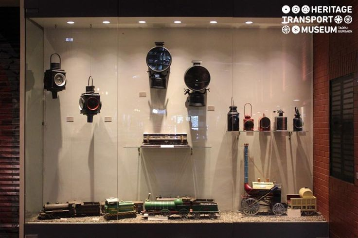 The museum has a special section dedicated to equipment, accessories and memorabilia of vintage transport! The image portrays the railway memorabilia highlighting signal lamps, locomotive lights and models of engines!  #railway #memorabilia #signallamps #heritage #transport #museum