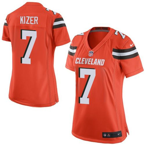 Women's Nike Cleveland Browns #7 DeShone Kizer Limited Orange Alternate NFL Jersey