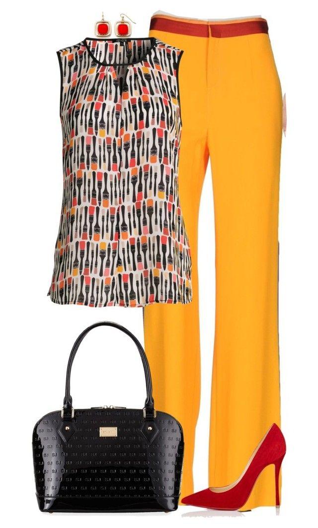 Sin título #1736 by marisol-menahem on Polyvore featuring polyvore fashion style NIC+ZOE Patrizia Pepe Christian Louboutin St. John Liz Claiborne clothing
