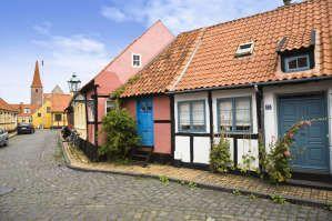 Half-timbered houses, Ronne, Bornholm, Denmark