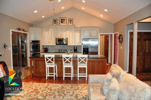 كولكشن مطابخ مفتوحه على الصاله للشقق الحديثة لوكشين ديزين نت Open Concept Kitchen Living Room Open Concept House Plans Living Room And Kitchen Design