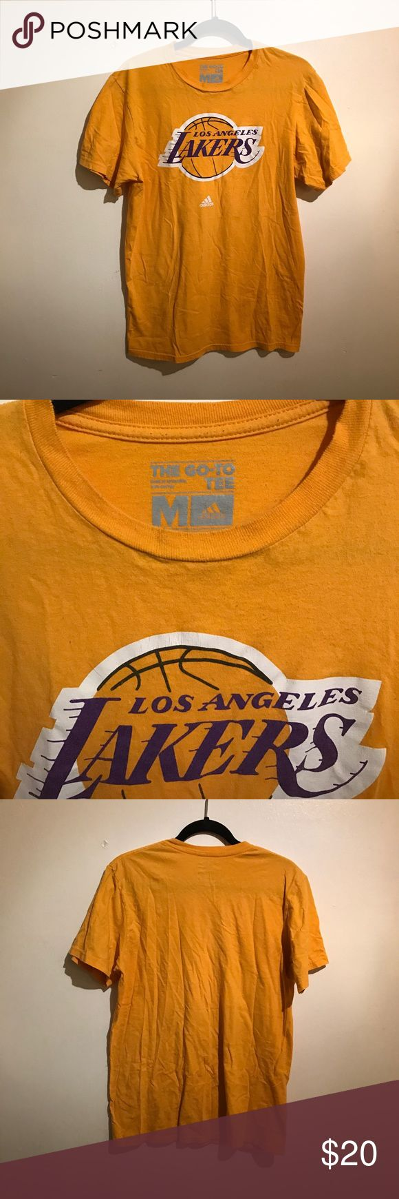 LA Lakers Tee Yellow LA Lakers shirt. Slightly worn. Shirts Tees - Short Sleeve