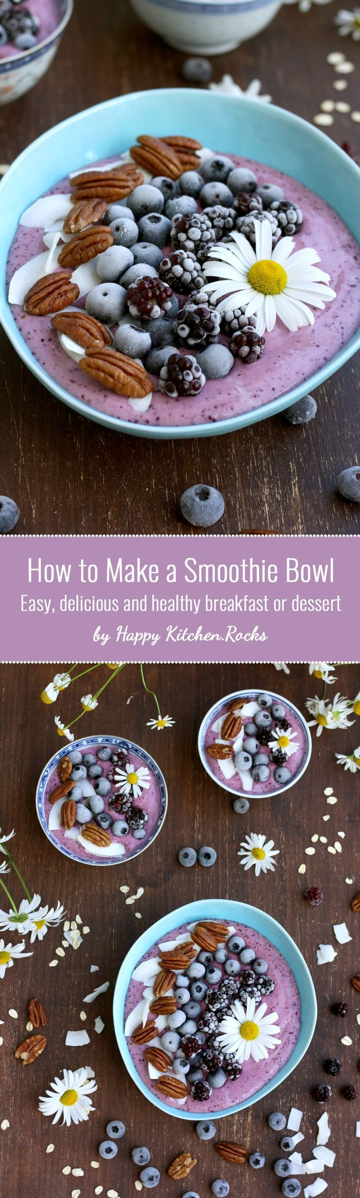 Easy and delicious 5-minute smoothie bowl recipe with customizable ingredients…