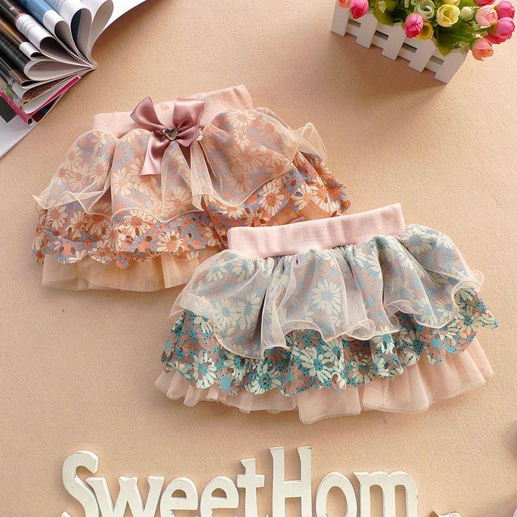 Принцесса дети девушки ленты бантом цветов юбки слоя цветочные тюль юбка