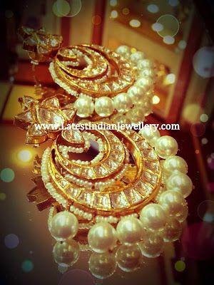Polki Chand Bali Earrings
