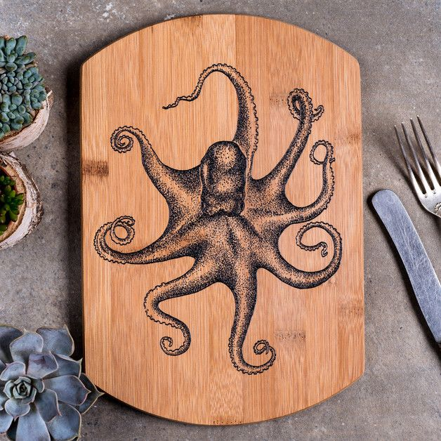 Cutting Boards – Cutting board Octopus – a unique product by GiftWorkshop on DaWanda