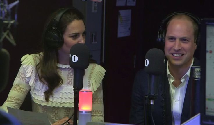 """flawlesscatherine: """"Official Charts @officialcharts: This is actually happening right now. The Duke and Duchess of Cambridge are hosting the Official Chart on @BBCR1! """""""