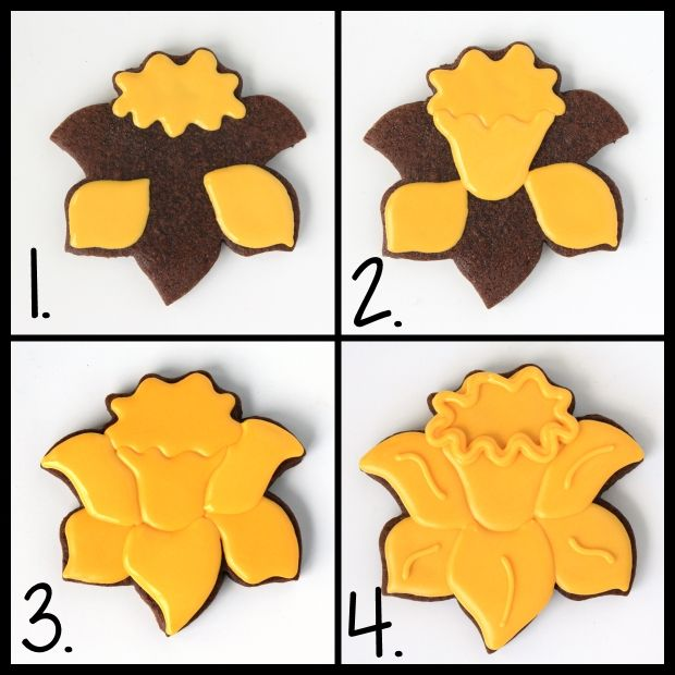 LilaLoa: Decorated Daffodil Cookies