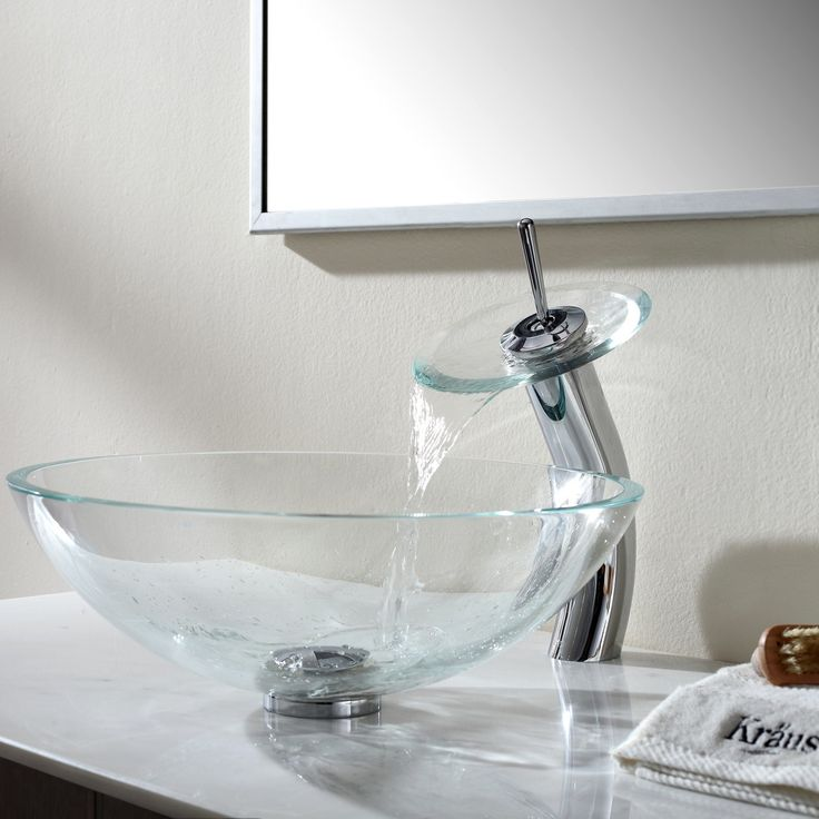 Add A Touch Of Color To Your Bathroom With Kraus Gl Vessel Sink And Faucet Combination