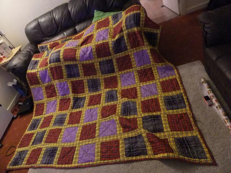 tartan patchwork quilt