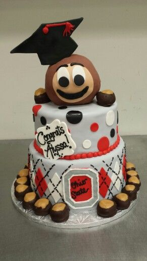 28 Best Images About Ohio State Buckeyes Cakes On