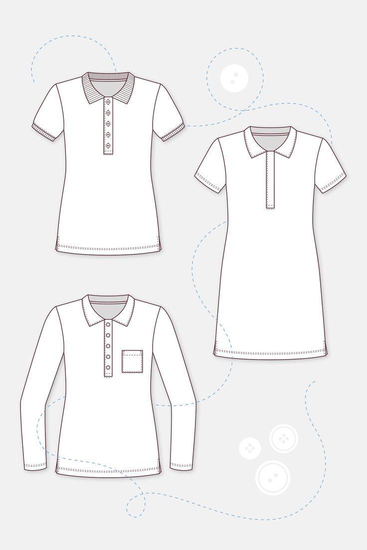 Leslie Technische Zeichnung Poloshirt Frauen – #Frauen #Leslie #Poloshirt #Techn