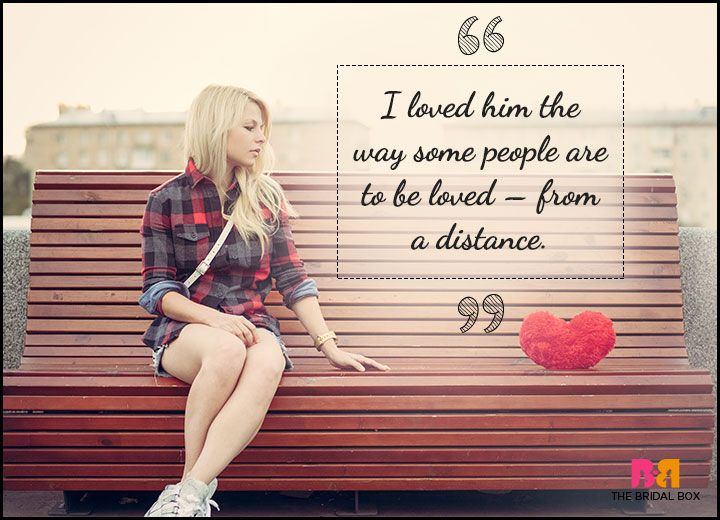 One Sided Love Quotes - From A Distance