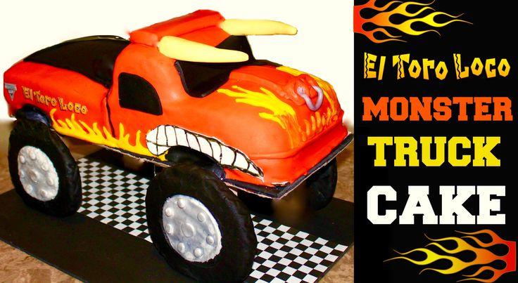 Monster Jam El Toro Loco Monster Truck Cake