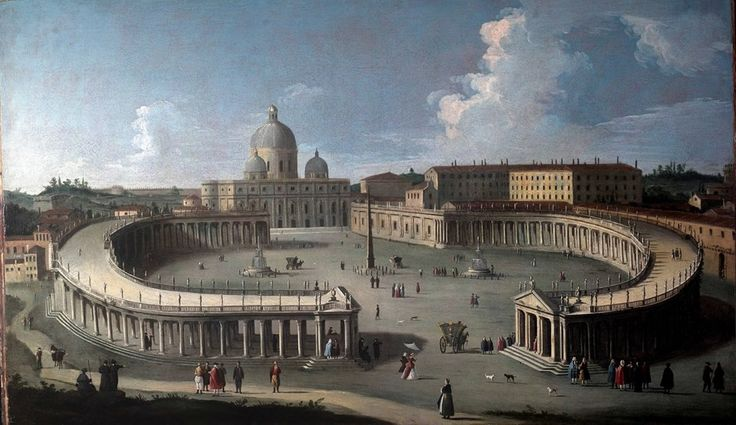 B. CANAL, St. Peter's Square with the Apostolic Palaces and the Colonnade, 1730 approx., oil on canvas, 90 x 147 cm from Galleria Salamon, Milan (I) #flashbackfair #exhibitors #turin #flashback16 #thenewsyncretism #allartiscontemporary