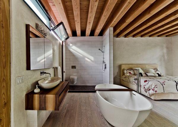 Awesome Romantic Bath Designs Adopting Classic Bathroom Design: Elegant White Bathtub Design Idea Finished In Modern Bedroom Interior Design...