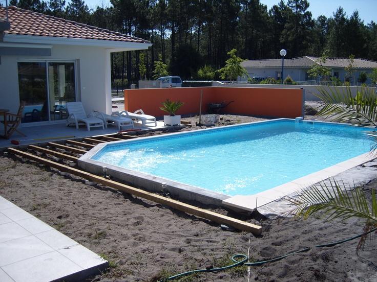 Terrasse Ipé  Andernoslesbains  Plage de piscine  Préparation