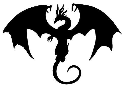 Medieval Dragon Silhouettes | Dragon Silhouette here to include in your fantasy creative graphics ...