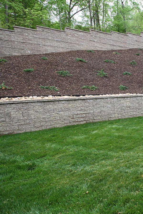 Stoneledge Segmental Retaining Wall Units In Coastal Tan At A Private Residence Richmond Va Retaining Wall Outdoor Outdoor Decor