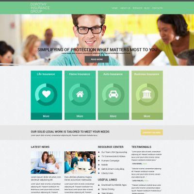 Online Insurance Services  Drupal Template
