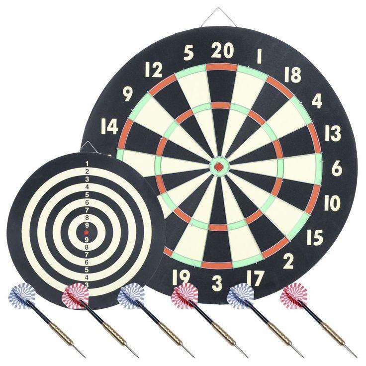 Gameroom Bedroom Darts and Dartboard Sets Indoor Pro Style 2 Sided New Games #TrademarkGameroom #Game #Dartboard #Set #Indoor