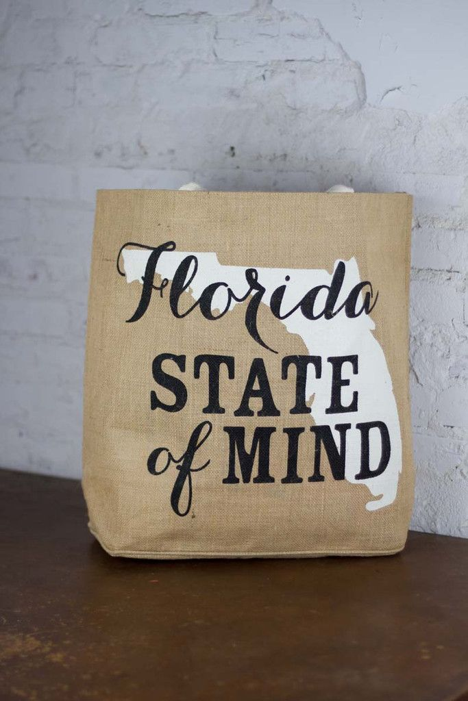 Florida Southern State Tote {Bourbon and Boots}