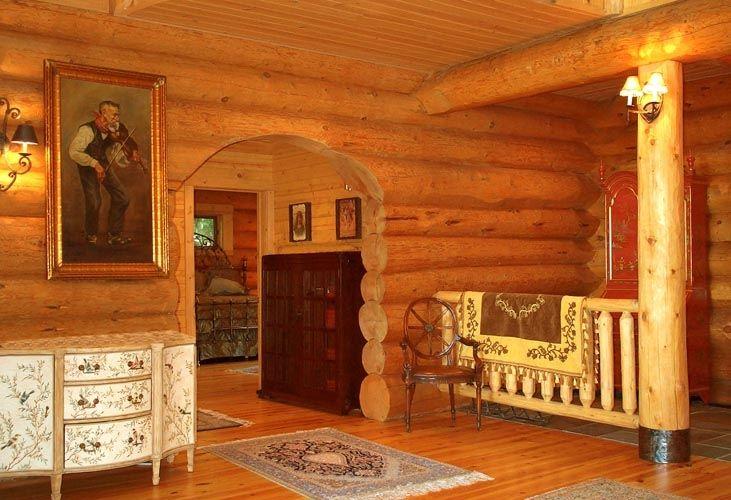 Log Cabin Homes & Kits: Interior Photo Gallery