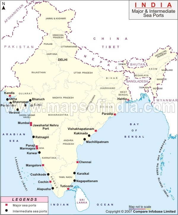 79 best india maps images on pinterest india map cards and maps major sea ports map gumiabroncs