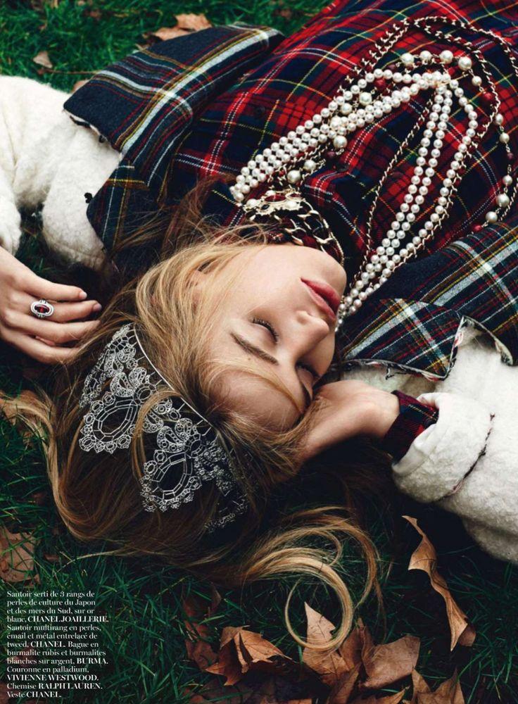 Vogue Paris August 2013 - Chanel - Plaid - Tweed