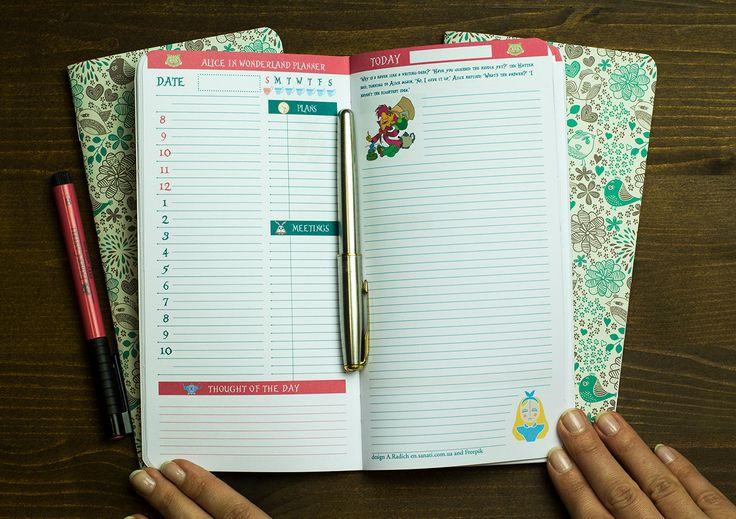 Hey, this is an updated colored version of our Alice in Wonderland series, 192 pages of refills/inserts for your standard Midori travelers notebook. Here you get 31 days planner (you can use for any month you like), separately grids and lines. You decide what combination you would like to get. For example: 1 planner + 2 grids or 1 planner + grids + lines.  Put this Midori / Fauxdori standard size insert into your lovely notebook now.
