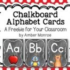 This free set of alphabet cards was created for classroom display.  They have a dusty chalkboard background, as well as bright and colorful picture...