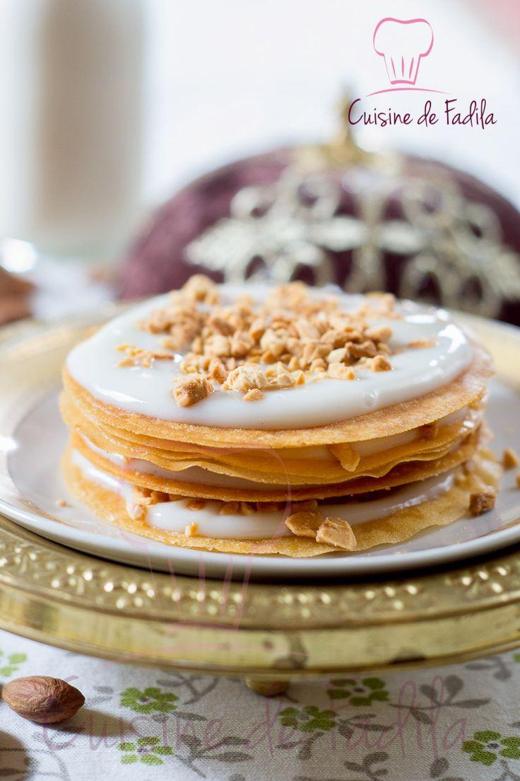 Pastilla au lait et aux amandes Un dessert Marocain douceur simple, raffinée au bon goût de cannelle et la fleur d'oranger