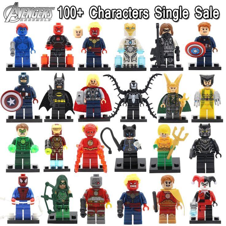 Single Sale Minifigures Marvel Super Hero Avengers Deadpool Batman Building Blocks Sets Bricks Kids Toys legoelieds Compatible-in Blocks from Toys & Hobbies on Aliexpress.com | Alibaba Group